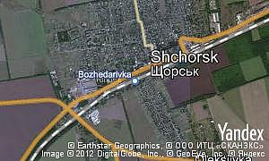 Map of  pgt Shchorsk