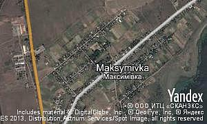 Map of  Maksymivka