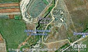 Map of  Zhovte