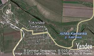 Map of  Tokivske