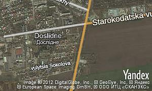 Map of  Doslidne