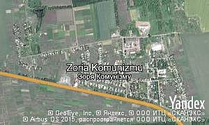 Yandex map of  Zoria Komunizmu