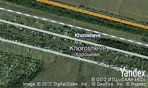 Map of  Khorosheve