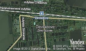 Map of  Devladove