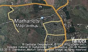 Map of  city Marhanets