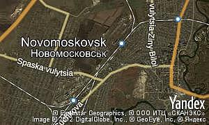 Map of  city Novomoskovsk