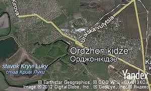 Map of  city Ordzhonikidze