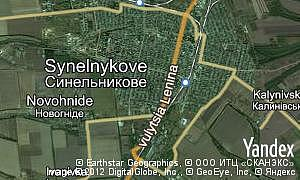 Map of  city Synelnykove