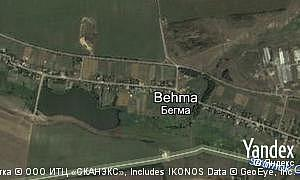 Yandex map of  village Behma