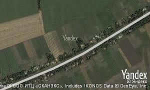 Yandex map of  village Novooleksandropil