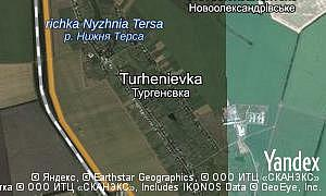 Map of  village Turhenievka