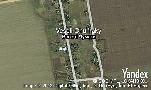 Map of  village Veseli Chumaky