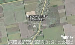 Map of  village Novoivanivka