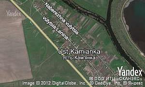 Map of  village Ust-Kamianka