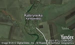 Map of  village Katerynivka