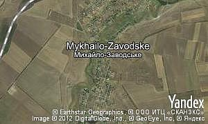 Map of  village Mykhailo-Zavodske
