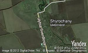 Map of  village Shyrochany