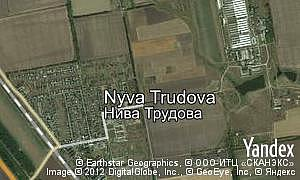 Map of  village Nyva Trudova