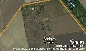 Map of  village Sadove