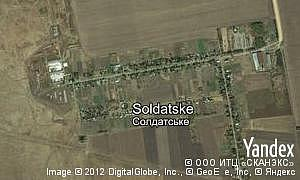 Map of  village Soldatske