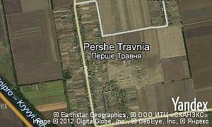 Map of  village Pershe Travnia