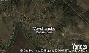 Map of  village Vovchanske
