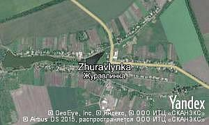 Google map of  village Zhuravlynka