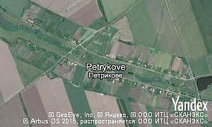 Google map of  village Petrykove