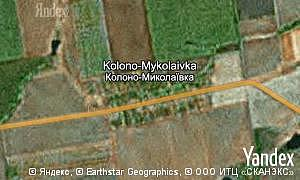 Map of  village Kolono-Mykolaivka