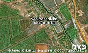 Map of  village Voskresenivka