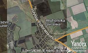 Map of  village Hryhorivka