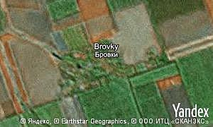 Map of  village Brovky