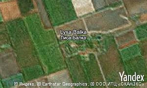 Map of  village Lysa Balka