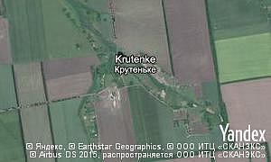 Satellite map of  village Krutenke