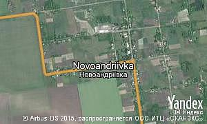 Map of  village Novoandriivka