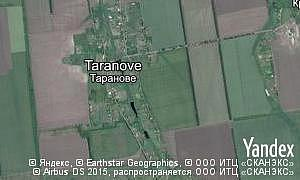Map of  village Taranove