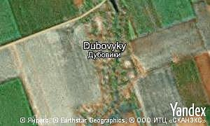 Map of  village Dubovyky
