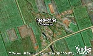 Map of  village Medychne