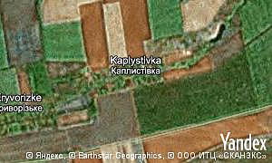 Map of  village Kaplystivka