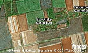 Map of  village Kryvorizke