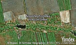 Map of  village Novohryhorivka