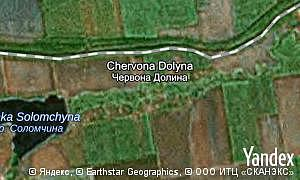 Map of  village Chervona Dolyna