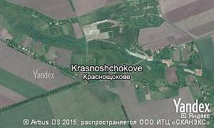 Map of  village Krasnoshchokove