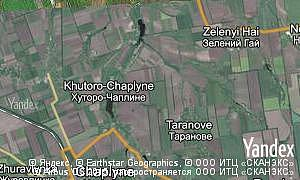 Map of  village Khutoro-Chaplyne