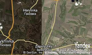 Map of  village Zapolychky