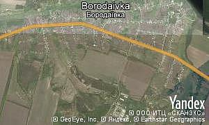 Map of  village Borodaivka