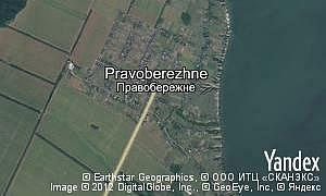 Satellite map of  village Pravoberezhne