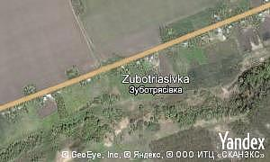 Map of  village Zubotriasivka