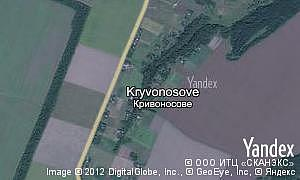 Map of  village Kryvonosove