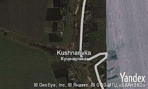 Map of  village Kushnarivka
